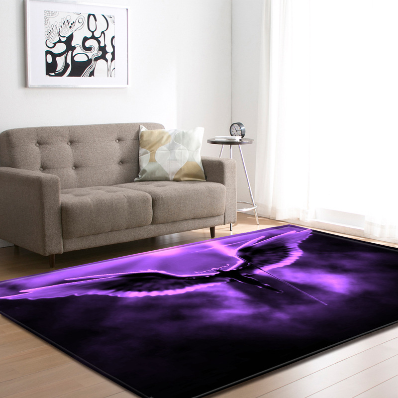 Creative Angel wings print carpets Living room coffee table bedroom area rug Kitchen Antiskid Floor Mat Bath doormat Home Carpet in Carpet from Home Garden