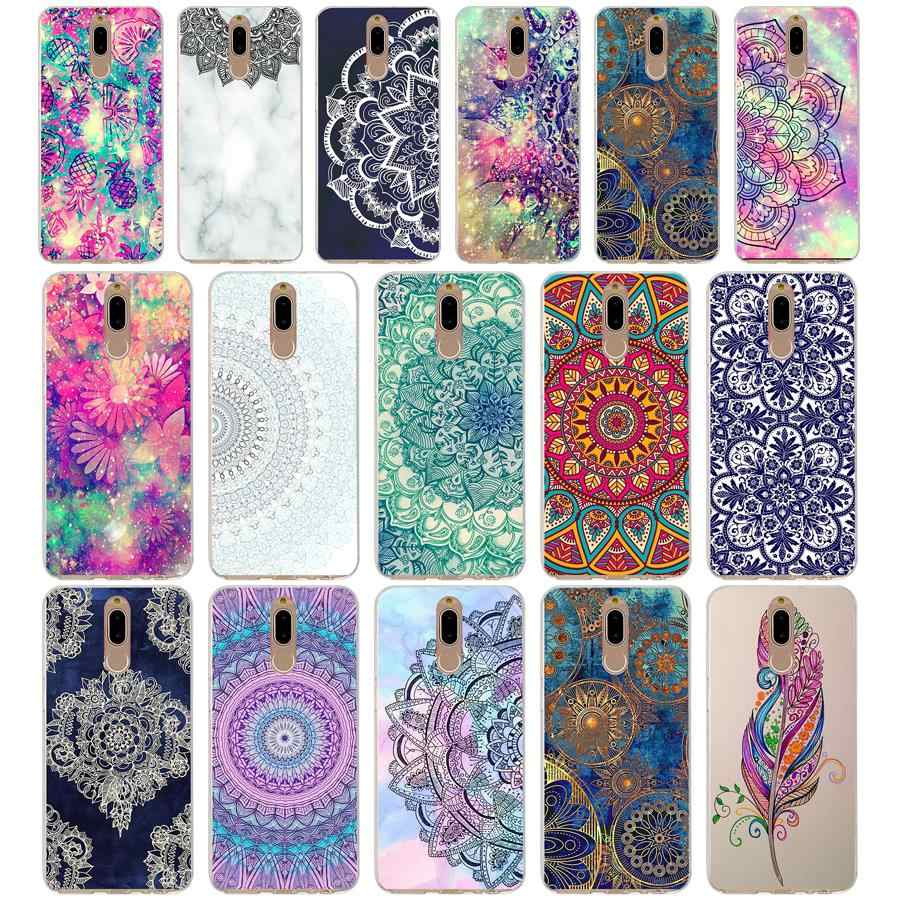 54G mandala pattern Soft TPU Silicone Cover Case for huawei mate 10 p9 lite 2017 p smart