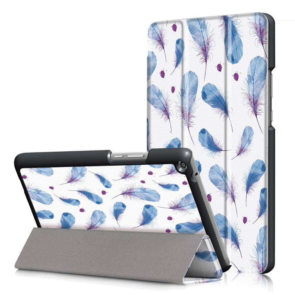 Планшеты чехол для HUAWEI Медиа Pad T3 8.0 принт тонкий складной чехол подставка Планшеты PC Защитная Для Huawei T3 8 дюймов