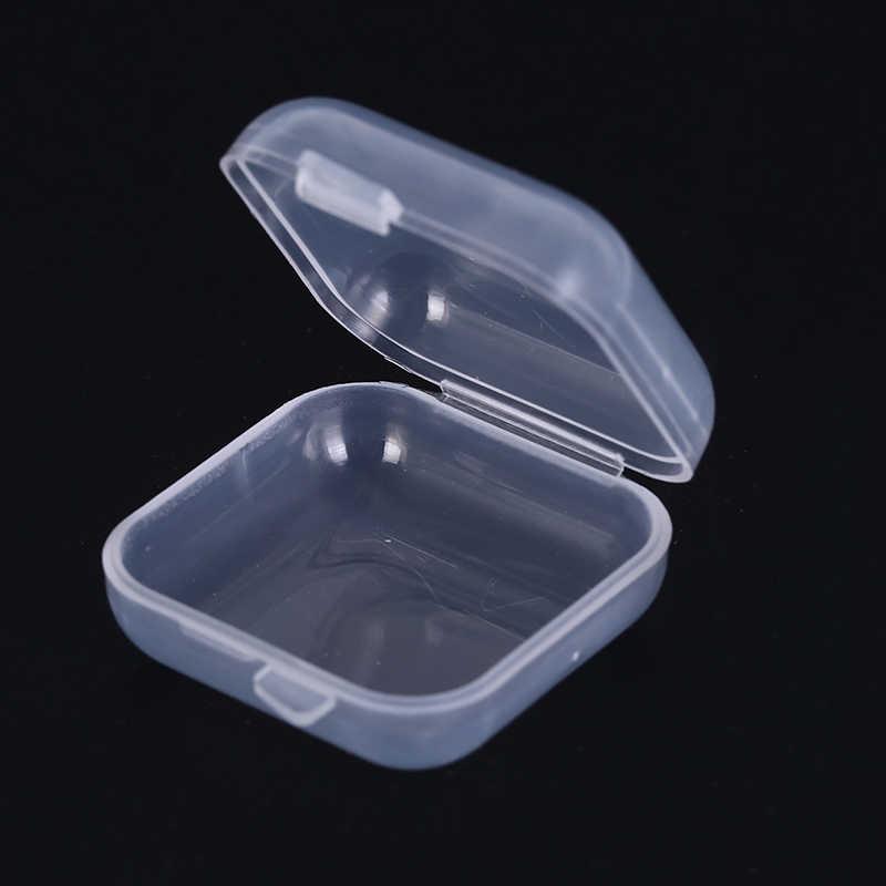 35*35*18 Mm Mini Clear Plastic Monster Doos Afdichting Up Pot Face Cream Container Portable Make Up jar Kleine Doos 5 Stks/set