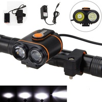 10000LM 2x XM L2 LED Head Bike Bicycle Light Headlamp Torch Rechargeable Lights 6400mAh Battery Charger