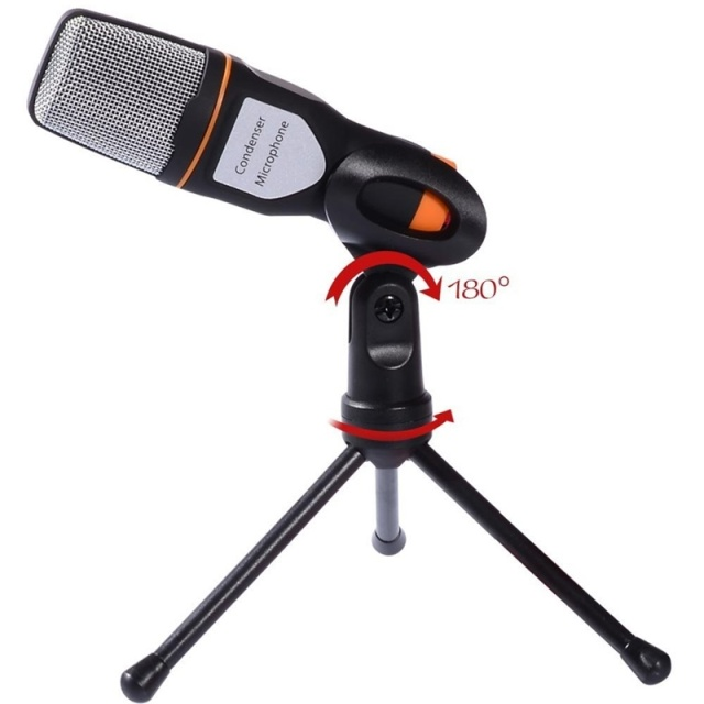 New Condenser Microphone Professional for computer PC phone Laptop Skype MSN Karaoke + PC stent  Sound Podcast Studio Microphones