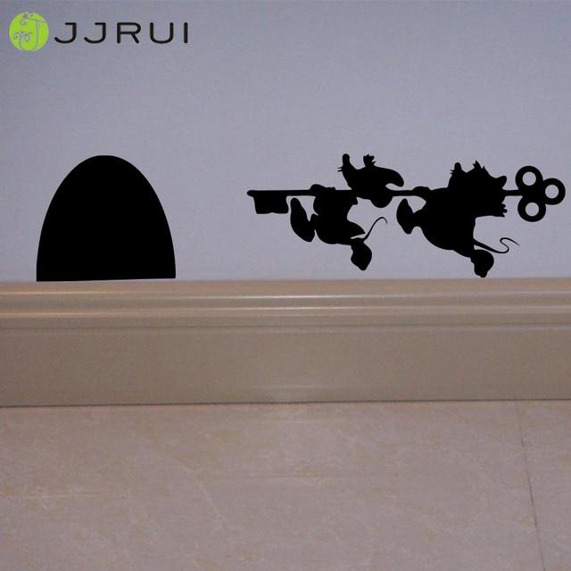 Genoeg JJRUI Muizen Gat Huis deur Art Wall Sticker Vinyl Decal Muizen BV63