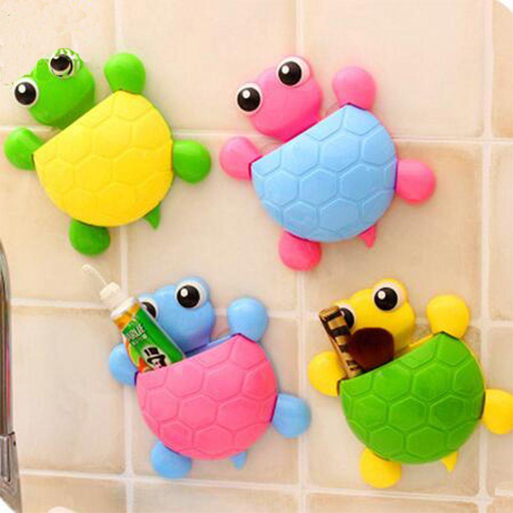 Badezimmerarmaturen Ausdauernd 1 Pc Neue Heißer Verkauf Mode Hause Dusche Nette Sauger Cartoon Schildkröte Zahnbürste Halter Wand Halterung Küche Bad Lagerung Rack Badezimmer Regale