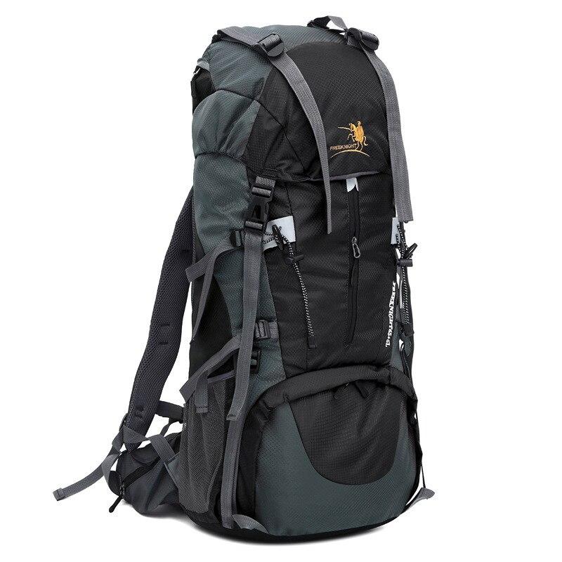 Free Knight Large Camping Hiking 70L Waterproof Internal Frame Climbing Backpack Outdoor Mountaineering Rucksack Travel Bags виброплита бензиновая tsunami со 70l