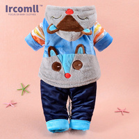2016 New Superior Quality Baby Clothes Children Clothing Autumn Winter Vestido Infantil Vest Coat Pants 3