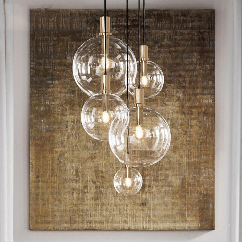 JAXLONG Modern Lighting Pendant Lamp Lights Kitchen Dining Room Glass Hanging Lamp LED Restaurant Home Deco Lighting Fixtures
