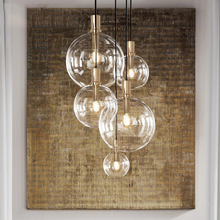 JAXLONG Modern Lighting Pendant Lamp Lights Kitchen Dining Room Glass Hanging LED Restaurant Home Deco Fixtures