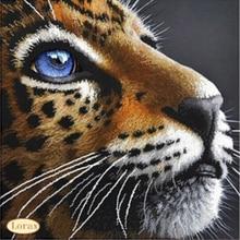 A1331 Diamond Embroidery Home Decor 3DIY Leopard Head 100% area Resin Tool dril Painting Cross Stitch Fashion Mosaic Needlework a1405 diamond embroidery home decor 3diy strawberry 100