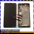 "4.7 ""display lcd + digitizer touch screen para zte nubia z5s mini nx403a assemblely com moldura do quadro flex cable"