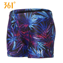 361 Mens Trunks Professional Swim Elastic Breathable Shorts Boxer Summer Beach Pool Short Pants Swimwear