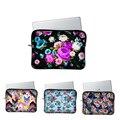 2017 new flower laptop sleeve ladies notebook bag women handbag for hp/ samsung series 9/ipad/mac
