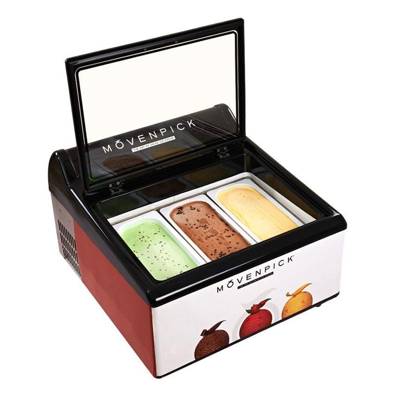 Desktop Mini Refrigerator Ice Cream Commercial Freezer Frozen Dessert Display Refrigerator Ice Counter Cabinet