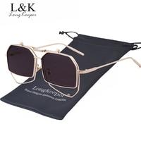 Long Keeper Steampunk Sunglasses For Men Women Brand Designer Unique Alloy Hexagon Mirror Eyewears With Glasses