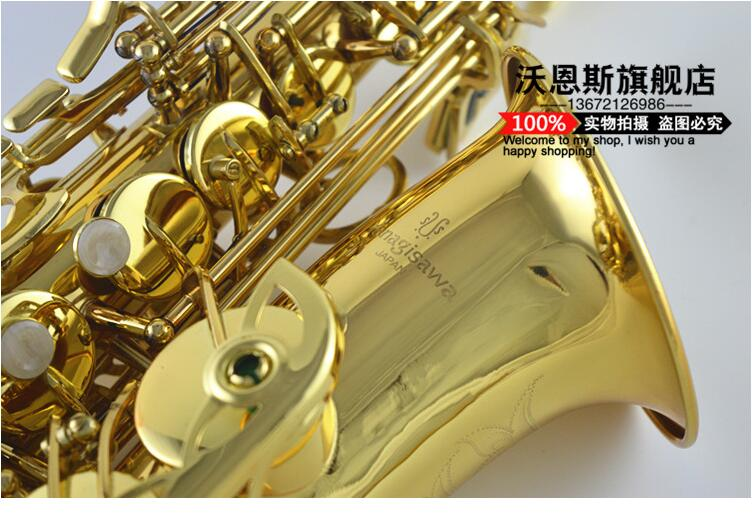 High Quality Yanagisawa 992 Eb Alto Saxophone Gold Lacquer Brass Sax E Flat Saxophone New Musical Instruments With Case blue gold lacquer falling tune eb alto sax instruments alto saxhorn professional performance brass f saxophone bag sax cover