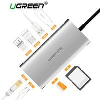 Ugreen USB HUB Alles in Een USB-C naar HDMI VGA Kaartlezer RJ45 PD Adapter macbook Samsung Galaxy S9/S8/S8 + Type C HUB USB 3.0