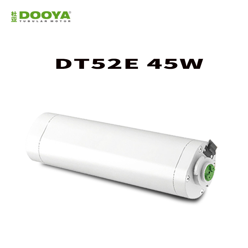 Original Dooya Electric Curtain Motor DT52E 45W+DC2700 Smart home Electric Curtain Motor With Remote Controller dooya dt52e electric curtain motor 220v 45w open closing window curtain track motor home automatic curtain motor for project