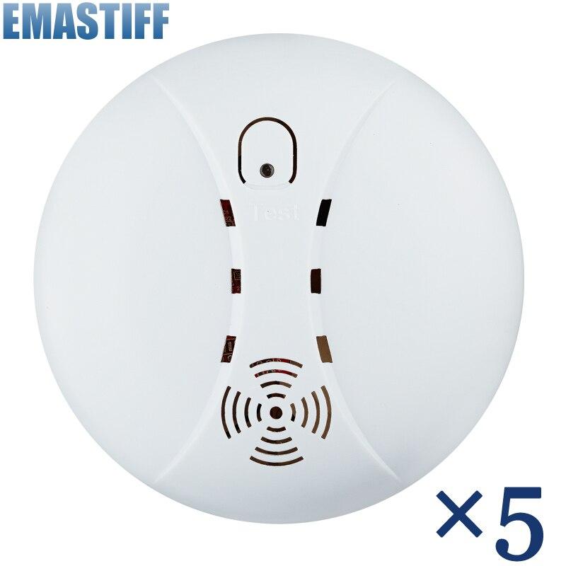 bilder für Heißer Verkauf Neue 433 Funk-rauchmelder Feuer Alarm Sensor für Indoor Hause Sicherheit Garten Sicherheit