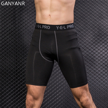 GANYANR Running Tights Men Yoga Basketball Fitness Leggings Compression Athletic Shorts Sports Skins Bodybuilding Gym Training стоимость