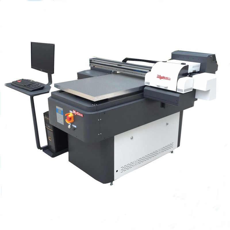 Многофункциональный светодиодный 6090 струйный УФ-принтер УФ керамический УФ led низкорамный принтер