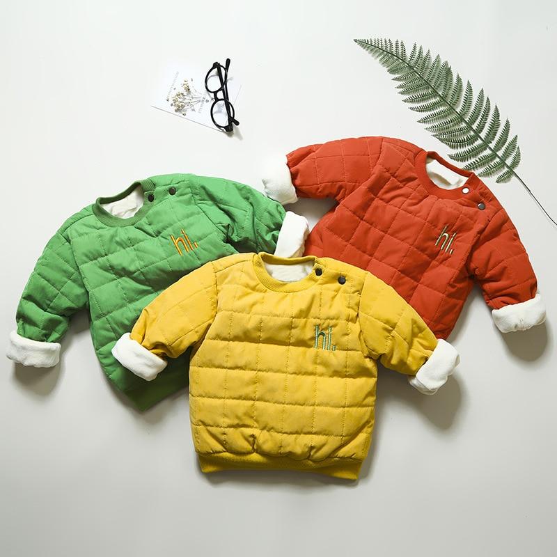 Winter Baby Boy Girl Warm Sweatshirt Kids Long Sleeve Cotton Clothing Warm Sweatshirts For 12M-3T Baby