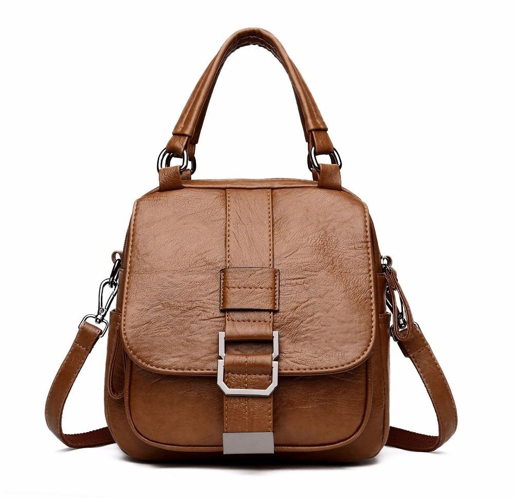 Vintage Women Genuine Leather Backpack High Quality Backpacks For Girl School Shoulder Bag Multi functional Women Tote Bags