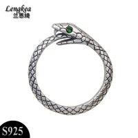Women's rings women jewelry snake opening ring men jewelry 925 sterling silver jewelry charms trinket finger ring for women