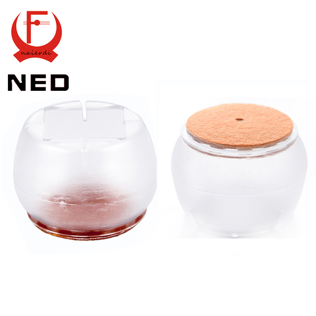 NED 4pcs/Set Chair Leg Caps Silica Gel Feet Protector Pads Furniture Table  Covers Round