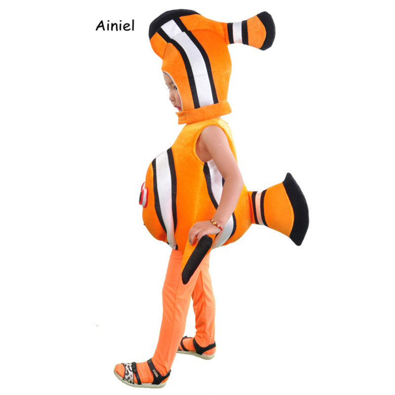 Ainiel Nemo Clownfish Cosplay Costume Finding Nemo Sea Animal Holloween Christmas Funny Party Kids Children Costumes
