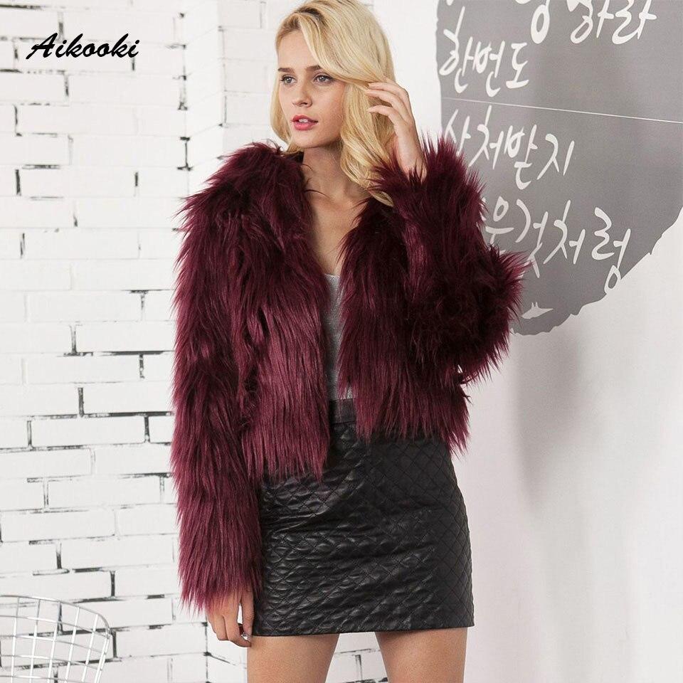 Aikooki Simplee chaud à capuche rose fausse fourrure manteau femmes moelleux à manches longues vêtements de dessus pour femmes hiver noir manteau veste poilu pardessus