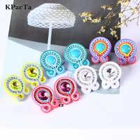 KPacTa Light Luxury Handmade Weaving Soutache Drop Earring Ethnic Jewelry Female Crystal Earring Banquet Gifts boucle d'oreille