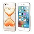 Kisscase ampulheta telefone casos para iphone 6 6 s case tpu macio capa para iphone 6 plus 6 splus case fundas coque silício claro Capa