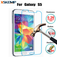 Ultra Thin Premium No Fingerprint Tempered Glass For Samsung Galaxy S5 i9600 Screen Protector HD Glossy 9H Scratch Proof Glass