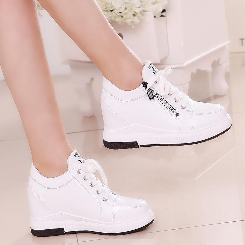 Women Slimming Platform Shoes Women Fashion Women Fwedges 6cm High Platform Female Casual Shoes