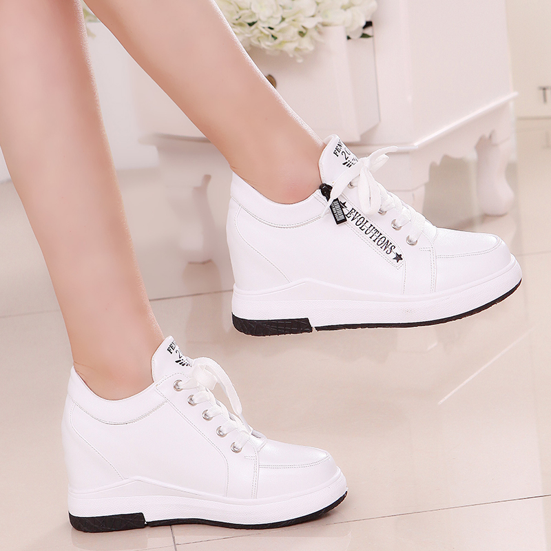 Women Slimming Platform Shoes Women Fashion Women Fwedges 6cm High Platform Female Casual Shoes