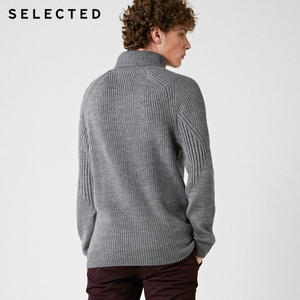 Image 4 - Мужской вязаный пуловер с высоким воротом, несколько цветов, свитер из смешанной шерсти, модель 418425533, 2019
