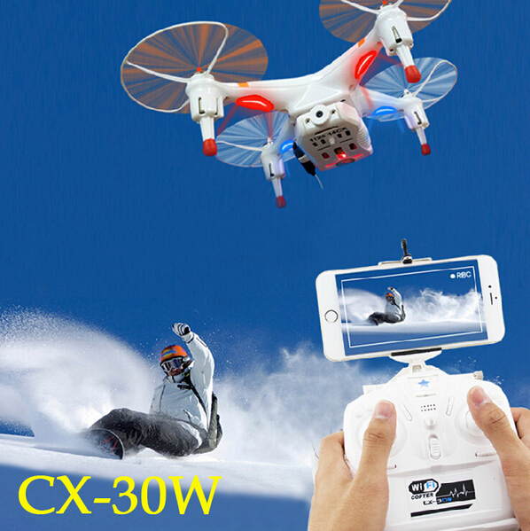 Cheerson CX-30 CX-30w Wifi FPV Rc Helicopter Quadcopter Drone 4CH 2.4G 6 Axis With HD Camera Remote Control Led Lights Ufo free shipping cx 20 rc drone helicopter quadcopter parts flight control circuit board pcb for cheerson auto pathfinder