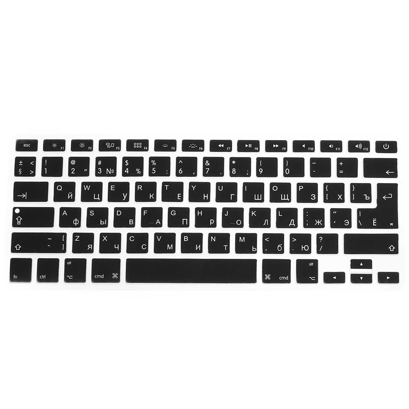 Universal Russian Version Silicone Keyboard Cover Waterproof Protector Letter Keyboard Skin Protective For Macbook Pro/Air