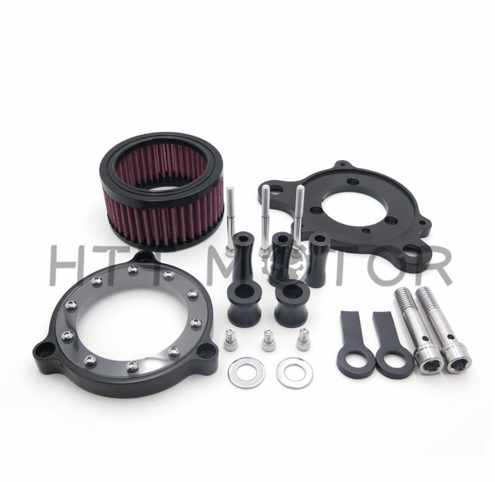 Aftermarket free shipping Motorcycle Parts Air Cleaner Intake Filter Systems For Harley Sportster XL 883 1200 04-15 Custom BLACK aftermarket free shipping motorcycle parts brake clutch lever fit for harley davidson davidson xl sportster 883 1200 softail cd