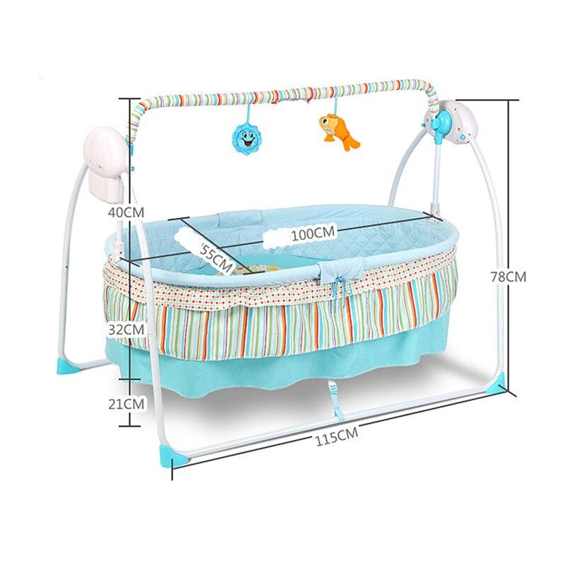 Baby Schommel Bed.Mode Elektrische Babybedje Cradle Elektrische Baby Rocker Baby