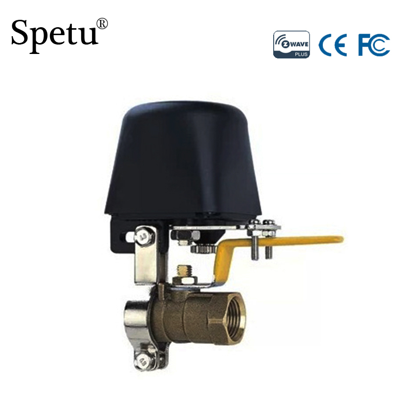 Spetu Z-Wave Auto Valve Can Conpatible With All Zwave Devies/Water Valve Switch,Smart Z Wave Water Leak Gas Leakage Sensor