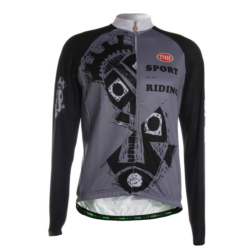 TVSSS Men's Black Grey Printing Cool Style Cycling Jersey Winter Long Sleeve The Design of Individual Fish Bicycle Clothing aquapulse 4122b grey black