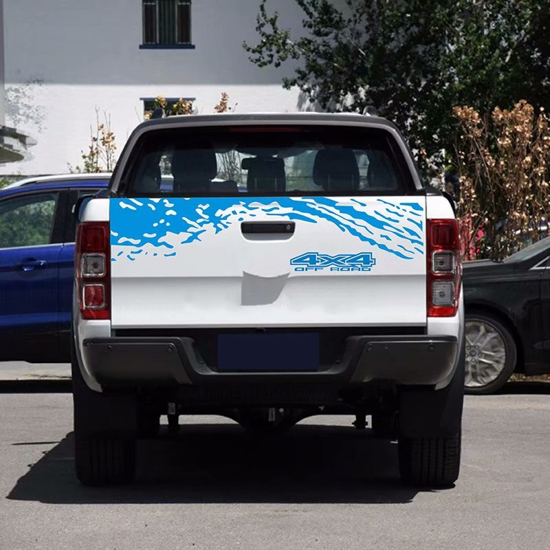 Image 3 - Car Tail Trunk Stickers Decal Car Accessories Automobiles Car Decoration Auto Products For Ford Ranger Off road Universal Pickup-in Car Stickers from Automobiles & Motorcycles