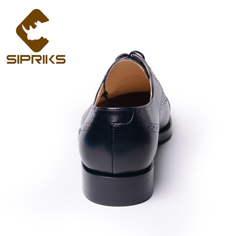 Cousu Goodyear Patron Robe Cuir Importé Bureau Rétro Noir Classique Véritable Chaussures Sipriks La Main En Italien À D'affaires Gent wvgpB4qPn