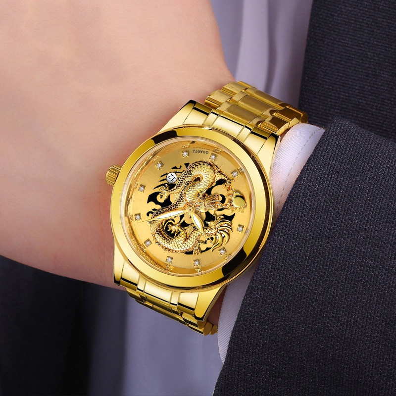 Men's Fashion Luxury Gold Watch