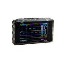 Мини DSO203 Цифровой Осциллограф USB LCD ARM Nano V2 Quad Портативный Osciloscopio 8 МГц 4 Канала Osciloscop Пластиковый Корпус DS203