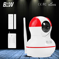 BW 720P HD IP Camera WiFi GSM + Door & Infrared Motion Sensor GSM Alarm Wireless Surveillance CCTV IR-Cut Support iOS,Android