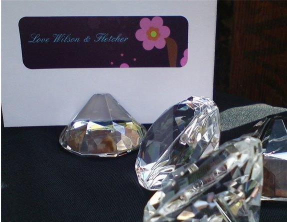 diamond shaped optical glass place card holder wedding decoration bridal shower party favors Table Decoration (no have card)