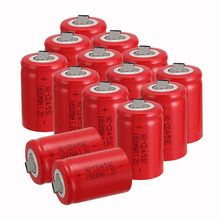 Anmas power new arrival 14 PCS Ni-Cd 4/5 SubC Sub C battery Rechargeable Battery 1.2V 1800mAh with red Tab 3.3cm x 2.2cm
