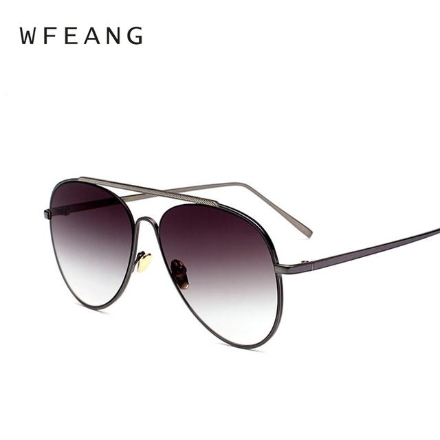 4f23faadf1a WFEANG Black Aviator Sunglasses Metal Sun Glasses Brand Designer Pilot  Sunglasses Women Men Shades Top Fashion